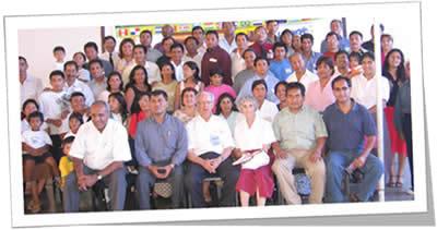 Algunos de los 44 misioneros de la mision peruana Atocri